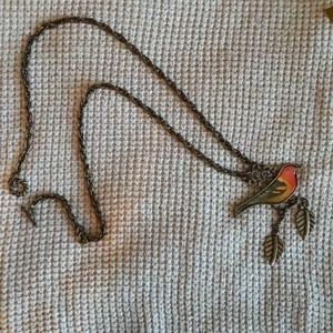 Resign bird statement necklace